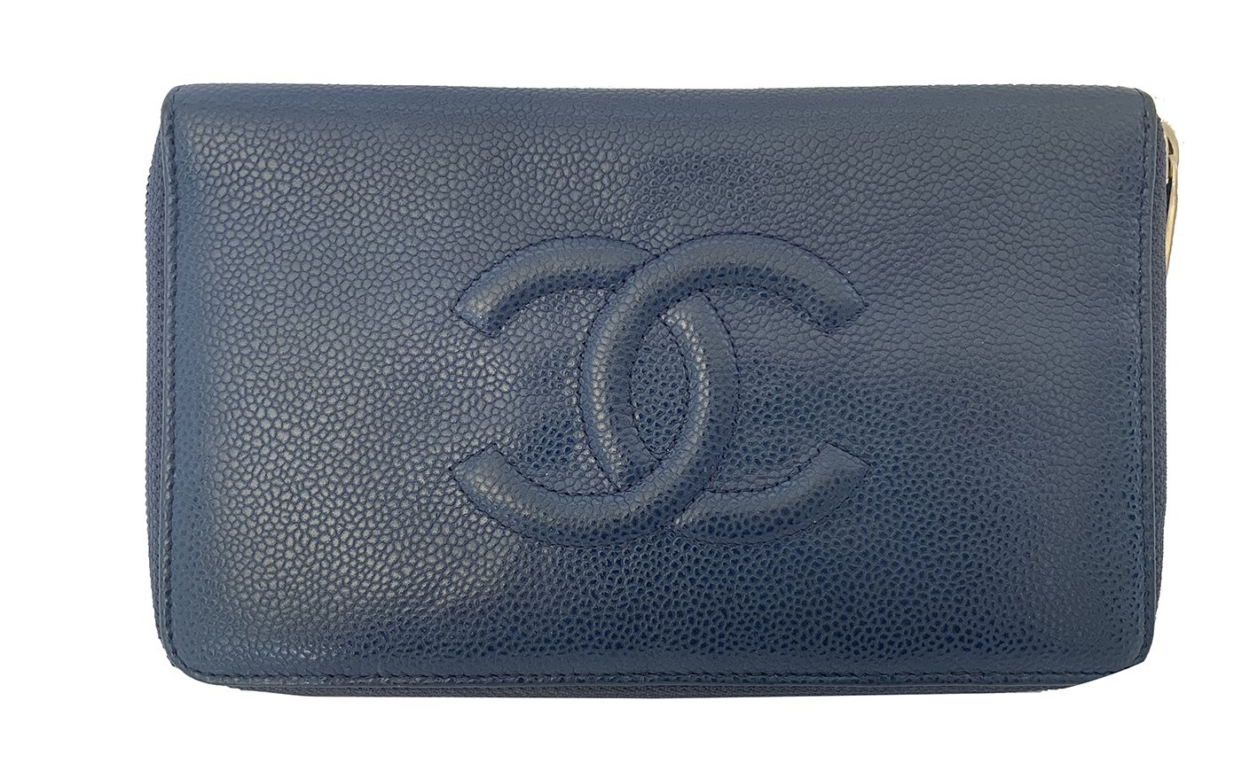 MONEDERO CHANEL AZUL